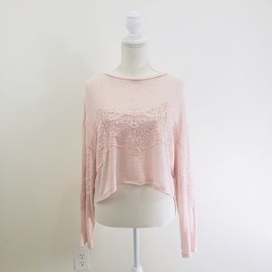 H&M Divided Pink Lightweight Sweater Medium
